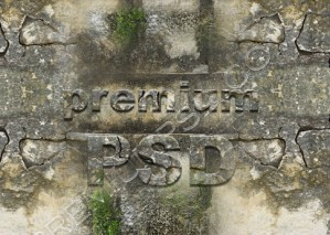 Text On Rock Wall Design – High Resolution – PSD Download