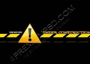 Under Construction Sign Design – High Resolution – PSD Download