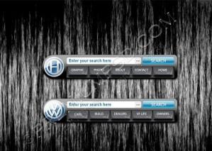 Volkswagen Navigation Menu Design – High Resolution – PSD Download