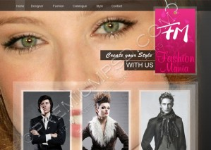 Fashion Mania Web Template Design – High Resolution – PSD Download