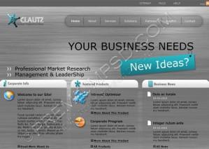 Grey Fibres Business Web Template Design – High Resolution – PSD Download