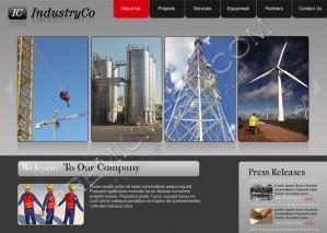 Industrial Web Template Design – PSD Download