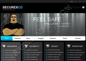 Security related Web Template Design – High Resolution – PSD Download
