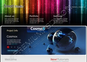 Smart Studio Web Template  Design – High Resolution – PSD Download