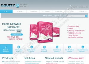 Equity Software Web Template Design – PSD Download