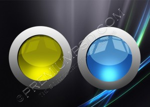 Two Glossy Crystal Balls – PSD Download