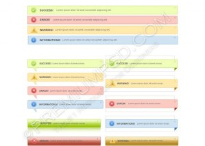 Four Different Styles of Notification Boxes Design – High Resolution – PSD Download