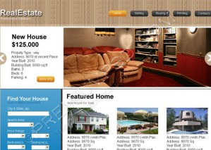Real Estate Solutions Web Template Design – PSD Download