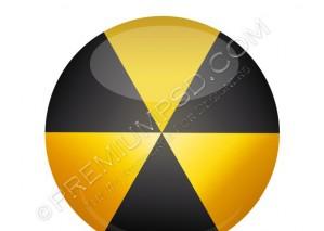 3D Radiation Sign – PSD Download