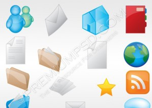 Assorted Web Icons – PSD Download