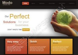 Business Related Web Template Design – PSD Download