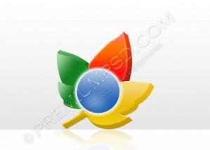 Enhanced Google Chrome Plus Logo Wallpaper – PSD Download