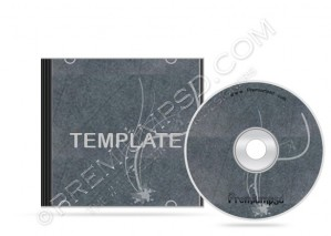 Grunge Floral Cd Case Template – PSD Download