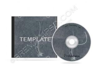 Grunge Floral Cd Case Template – PSD Download