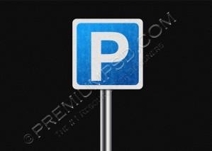 Blue Parking Sign Design – PSD Download