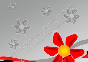 Red Flower Abstract Background – PSD Download