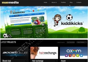 Sports Kids Related Web Template – PSD Download