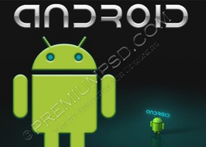 Android Logo Wallpaper – PSD Download