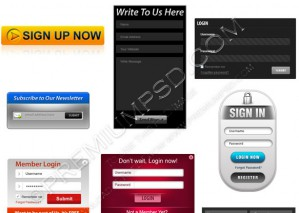 Assorted Web Forms Pack – PSD Download