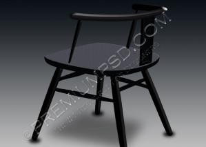 Black Shiny Chair Design – PSD Download