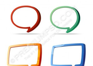 3d Chat Icons – PSD Download