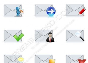 Assorted Email Icons – PSD Download
