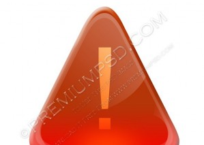 Glossy Attention Icon Design – PSD Download