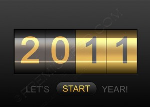 New Year 2011 Counter Wallpaper – PSD Download