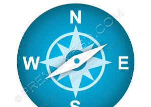Round Blue Navigation Icon – PSD Download