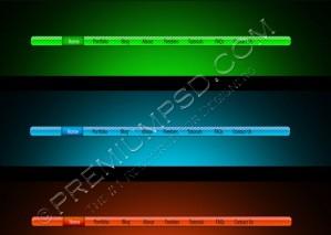 Shiny Navigation Menu Bars – PSD Download