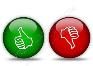 Glossy Thumbs Up and Thumbs Down Icons – PSD Download