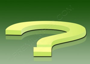 3d Question Mark Sign Design – PSD Download