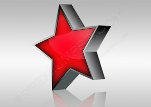 Abstract Red 3D Star Icon – PSD Download