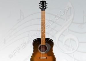 Acoustic Guitar Design Wallpaper – PSD Download