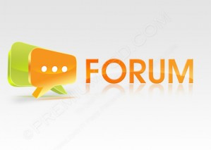 Glossy Forum Icon – PSD Download