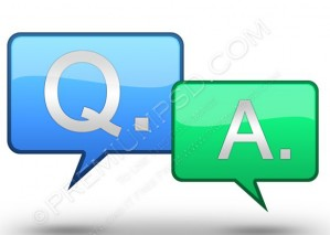 Glossy Q & A Icons – PSD Download