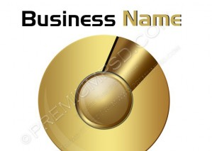 Gold Sphere Business Logo – PSD Download