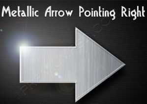 Metallic Arrow Pointing Right Design – PSD Download