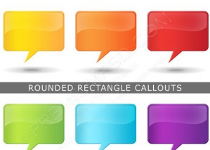 Presentation Rounded Rectangle Callout Icons – PSD Download