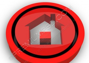 Red 3D Home Icon Design – PSD Download