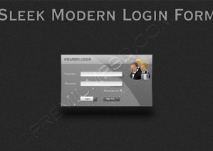 Sleek Modern Login Form – PSD Download