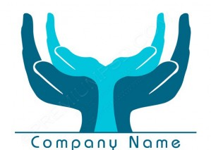 Supporting Hands Logo Design – PSD Download