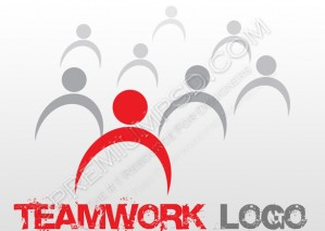Team Work Logo Design – PSD Download