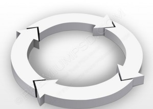 3D Gray Arrow Circle Design – PSD Download
