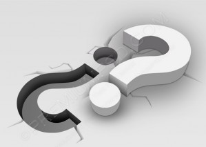 3D Question Mark In Ground – PSD Download