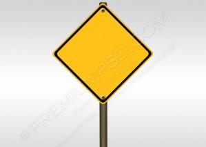 Blank Road Sign Design – PSD Download