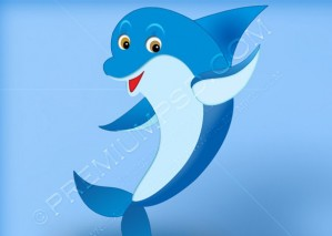 Blue Dolphin Wallpaper – PSD Download