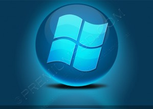 Blue Glossy Windows Logo – PSD Download