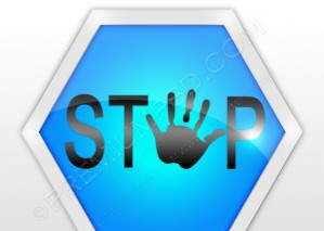 Blue Stop Sign – PSD Download