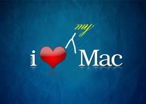 I Love My Mac Wallpaper – PSD Download